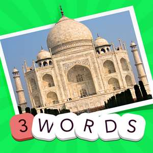 3 Words: Geography  – see a pic of a famous place, guess the three hidden words Hack
