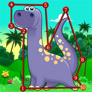 Dinosaur Dots Connect for kids Hack