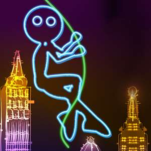 Neon City Swing-ing: Super-fly Glow-ing Rag-Doll with a Rope Hack
